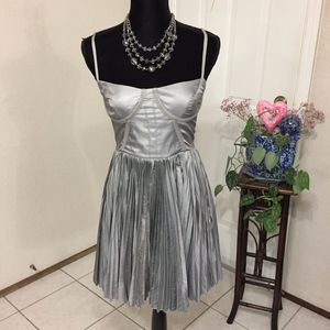 Elizabeth and James Corset Silver Dress (size 6)
